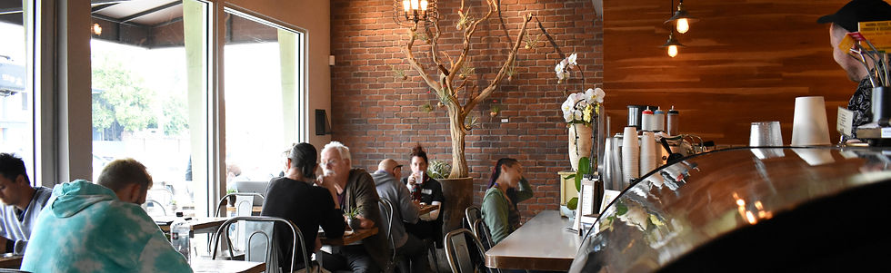Javista coffee interior with customers
