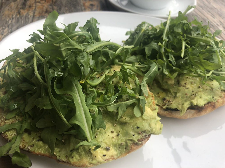 avocado toast on ciabatta bread