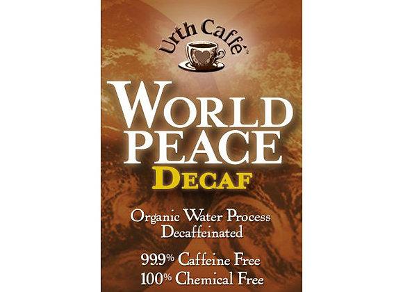 Urth World Peace decaf coffee bag 12 oz
