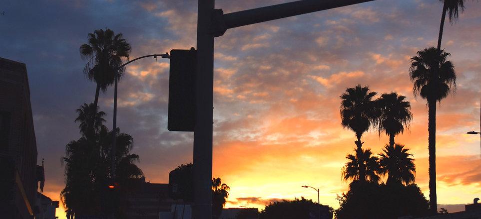 Sunset blvd at sunset seen from Javista