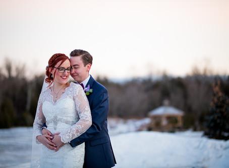 Durham Region Winter Wedding | Heather + Kevin | Rolling Acres
