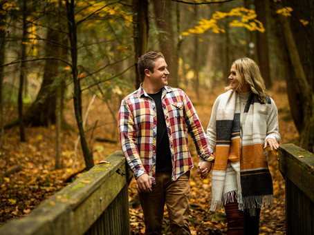 Milbrook Engagement | Kristen & Matt | Fall Forest Engagement