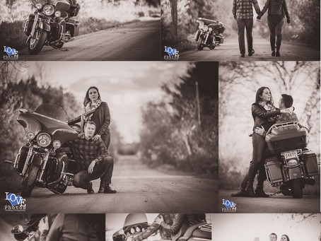 Toronto Fall Motorcycle Engagement | Jessica & Logan | Love Photos