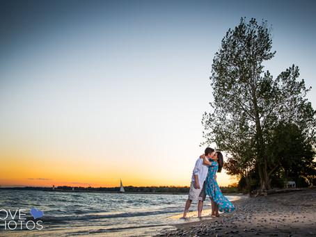 Jonna + Darren | Main St. Unionville & Pickering Beach Engagement | Love Photos | Pickering Wedd