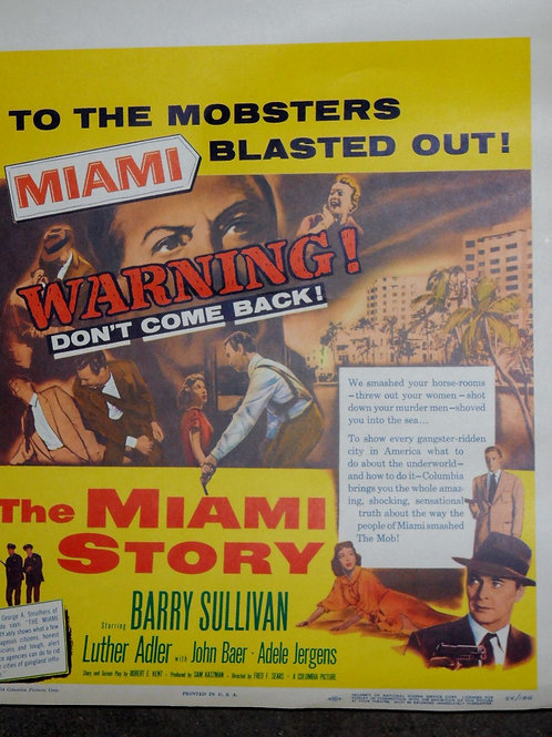"""The Miami Story"" 1954 Movie Poster"
