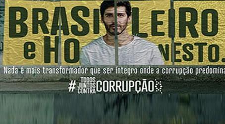 Todos juntos contra a corrupção.