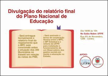 Relatório sobre cumprimento do Plano Nacional de Educação será divulgado em evento promovido pelo MP