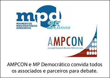 AMPCON e MP Democrático convida todos os associados e parceiros para debate