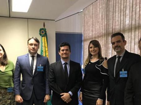 Ministro Sergio Moro recebe em audiência os Presidentes da AMPCON e do CNPGC