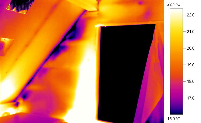 赤外線サーモグラフィ画像