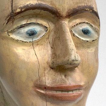 Happy Fellow Folk Art Carved Bust