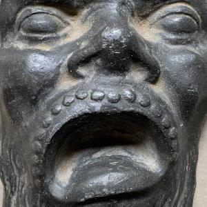 Grotesque Cast Iron Face