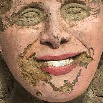 Strange Pepsodent Smile Portrait Bust