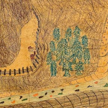 Echo Canyon Naive Folk Art Painting