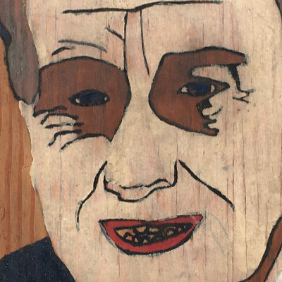 WWII-Era FDR Portrait on Wood