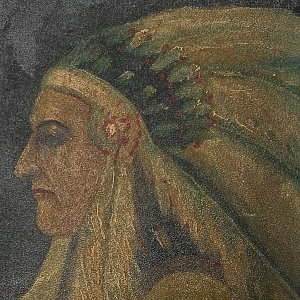 1920s Indian Chief Painting