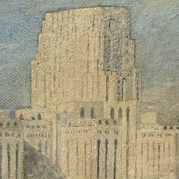 1946 Painting of New York Hospital