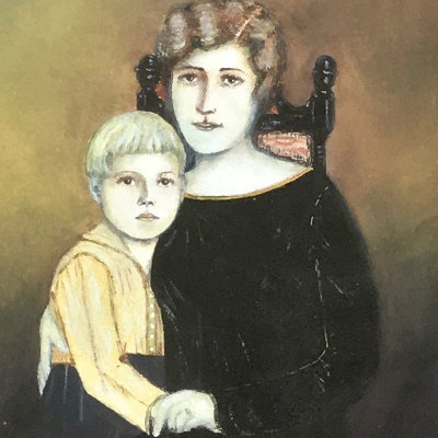 Luminous Portrait of Mother and Child