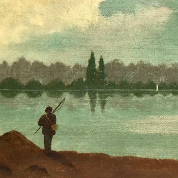 Painting of Rustic Serenity Dated 1888