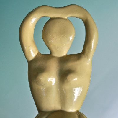 Semi-Abstract Wood Carving of a Woman