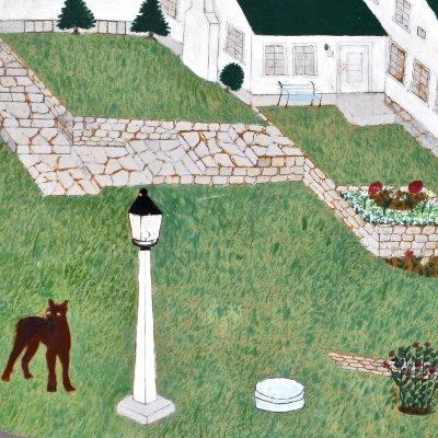 """Ransom Farm"" Folk Art Painting"