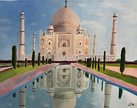 JONATHAN NOLAN_Taj Mahal_oil on canvas.J