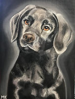 MADISON KUMINSKI_Puppy Eyes_Oil on canva