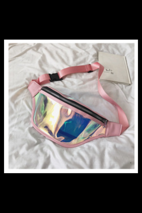 Pink Halographic Fanny Pack