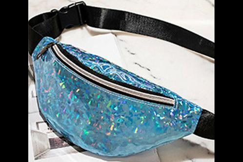Blue Glitter Fanny Pack