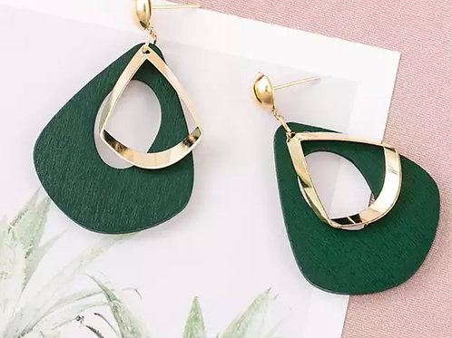 Green Duo Earrings