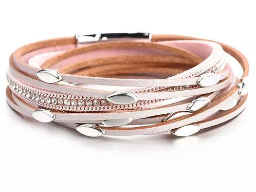 Peachy Leather Bracelet