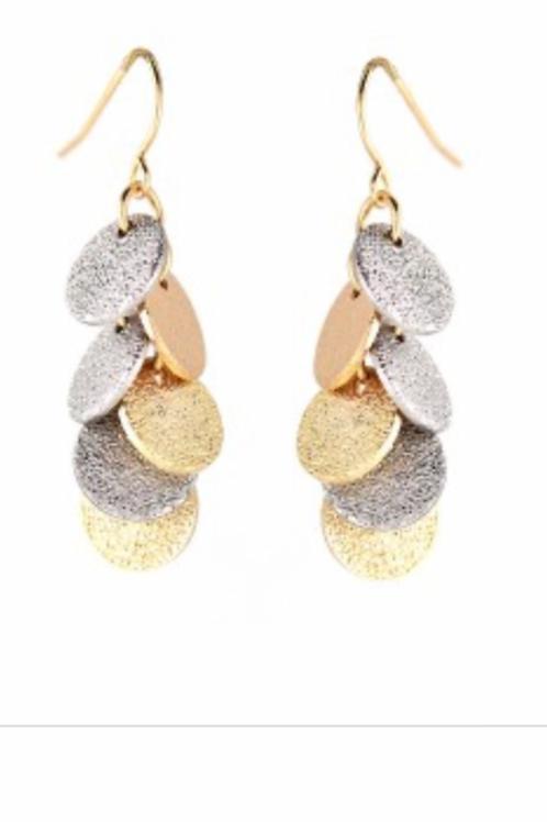 Galore Tri-Color Earrings