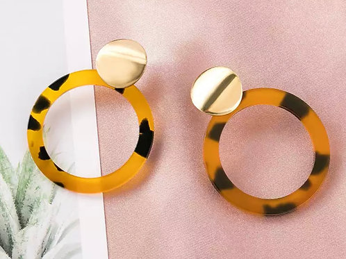 Tan Tort Earrings