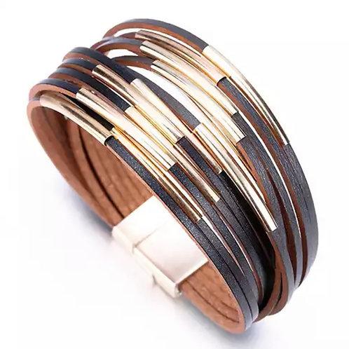 Black/Leather Bracelet