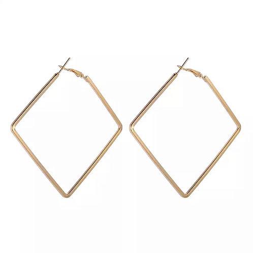 Gold Diamond Oversized Hoops
