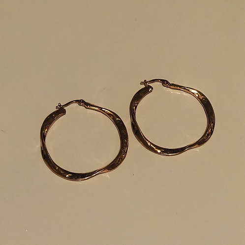 Gold Lava Hoops