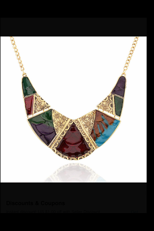 Multi Colored Plated Necklace