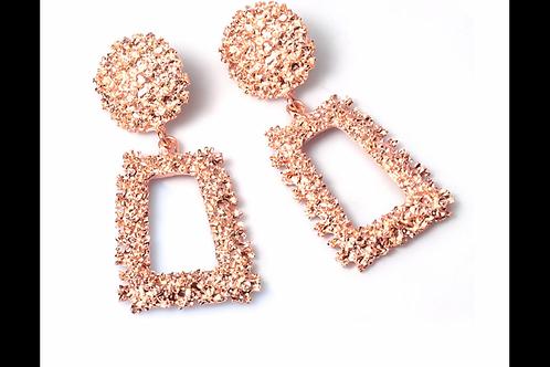 Rose Gold Clustered Earrings