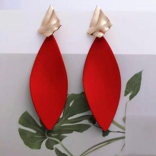 Ja Ja Red Drop Earrings