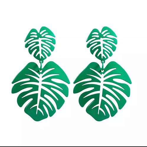 Green Leafy Earrings