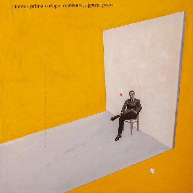 _saremoprimaopoi. 020 -tecnica mista su tela, 100x100 cm.
