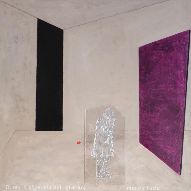 _immotal'aria 020 -tecnica mista su tela, 100x100 cm.