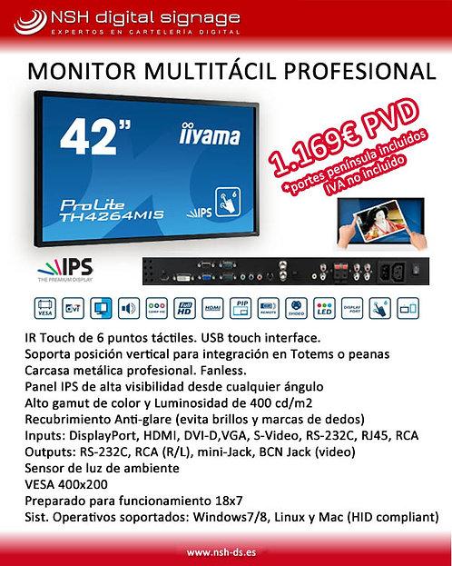 "PROMO Monitor Multitáctil 42"" IIYAMA Profesional"