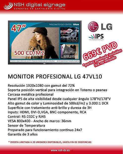 "OFERTA MONITOR PROFESIONAL 47"" LG"