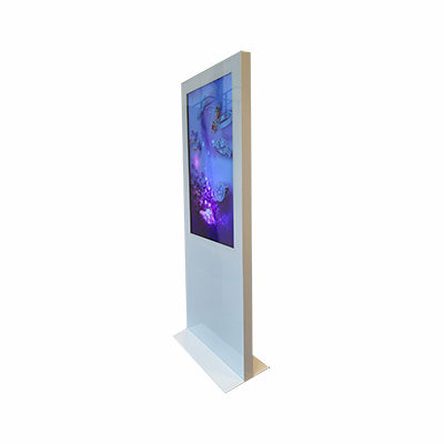 """Totem Táctil Aluminio --    de 43 a 84"""" interior"""
