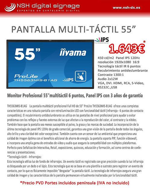 "OFERTA IIYAMA 55"" MULTITÁCTIL"