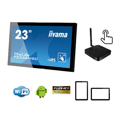 """23"""" ANDROID TABLET CON PLAYER"""