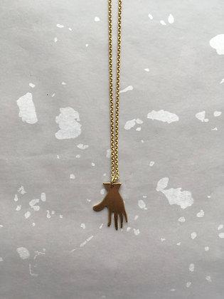 "Goldkette Necklace ""Hand"""