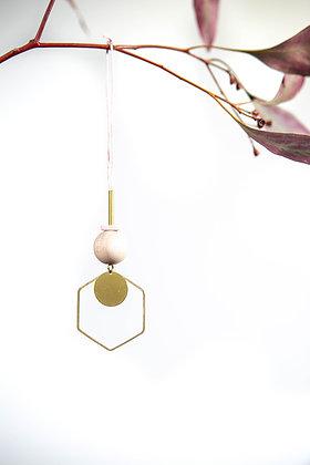 """Hanger """"Hexagon Brass"""""""