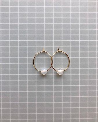 """Ohrringe Circle mini """"Juna"""" 24K vergoldet"""